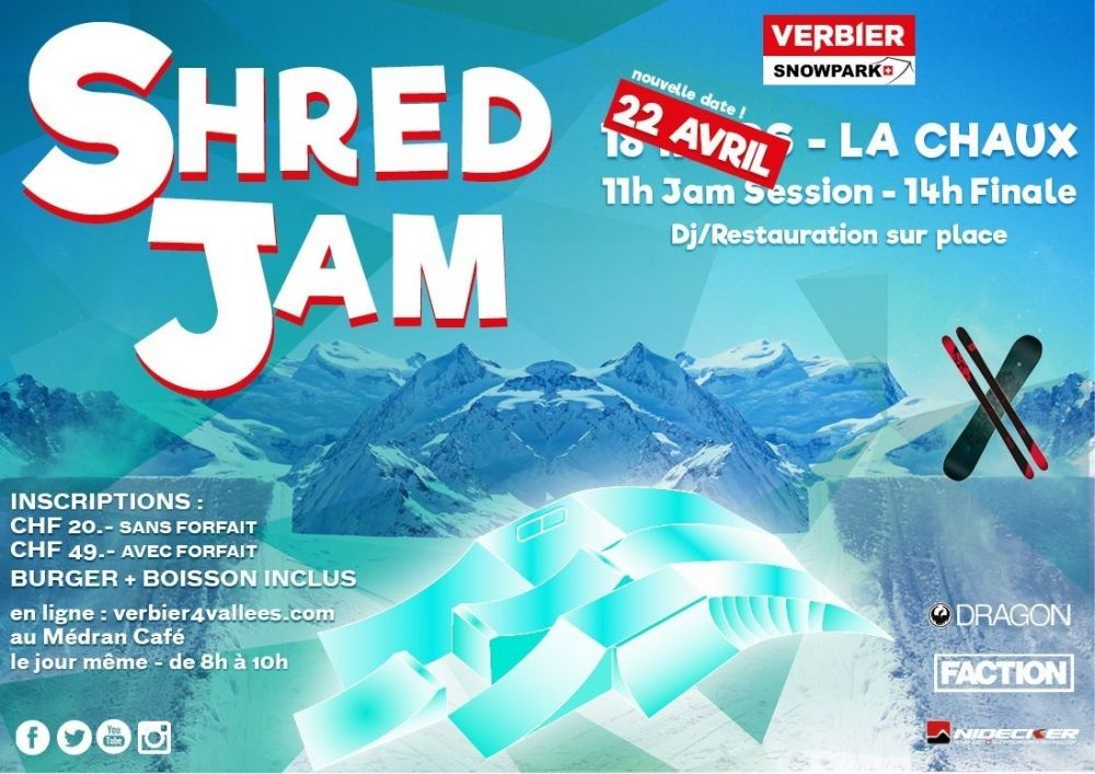 SHRED JAM le samedi 22 avril